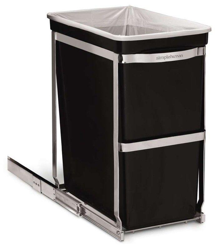 Simplehuman Pull-out Bin, inbouw afvalbak, 30 liter