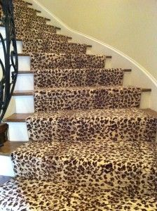 Iu0027m A Little Obsessed With The Animal Print Stair Thing Lately!
