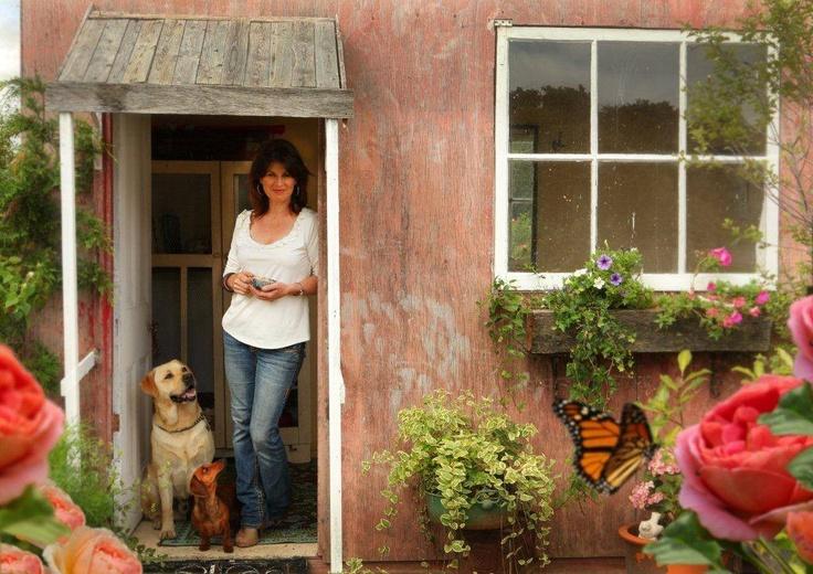 Kate Hedges, Kentucky Roses garden hut