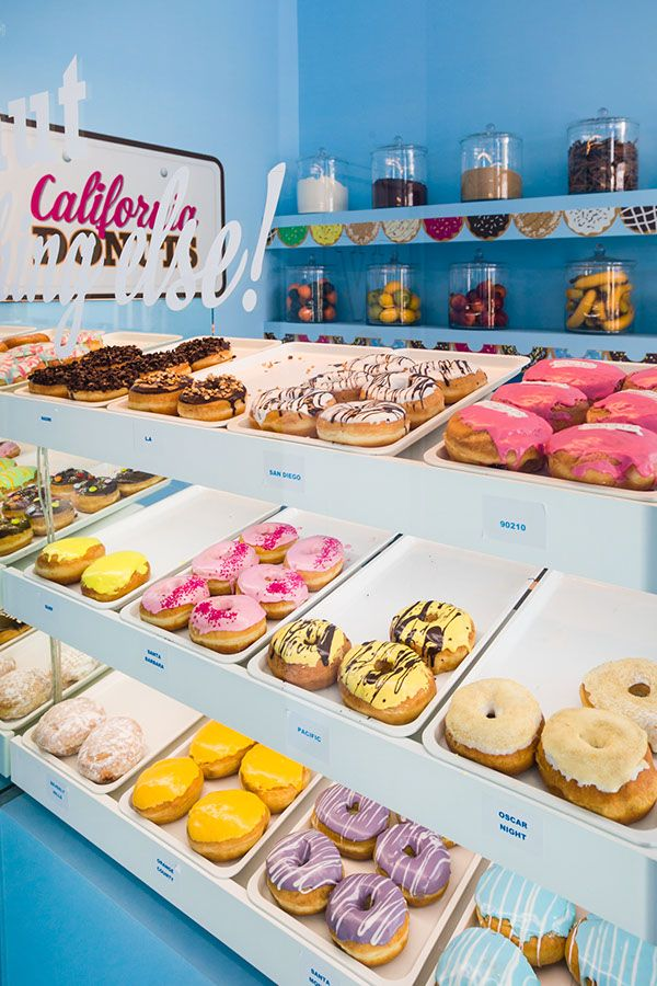 California Donuts on Behance. Nice window display.