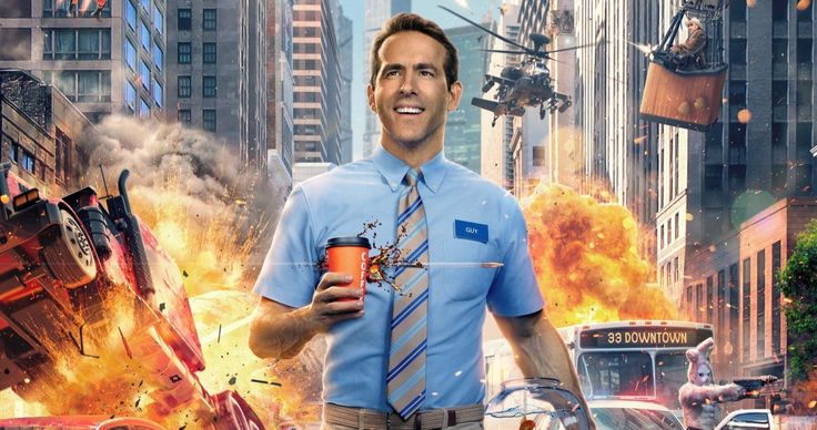 Free Guy Trailer Has Ryan Reynolds Trapped In A Wild Video Game Ryan Reynolds Upcoming Movies Ryan Reynolds Movies
