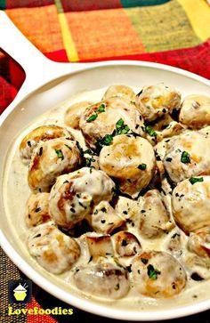 Romige knoflook champignons.  Dit is een zeer snel, eenvoudig en lekker recept, perfect als een kant, serveren op toast voor brunch, of toe te voegen aan een aantal prachtige pasta!  #mushrooms #garlic #easyrecipe