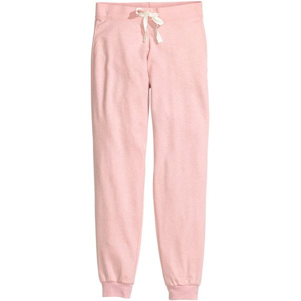 H&M Pyjama bottoms found on Polyvore featuring intimates, sleepwear, pajamas, pants, bottoms, sweatpants, light pink and h&m