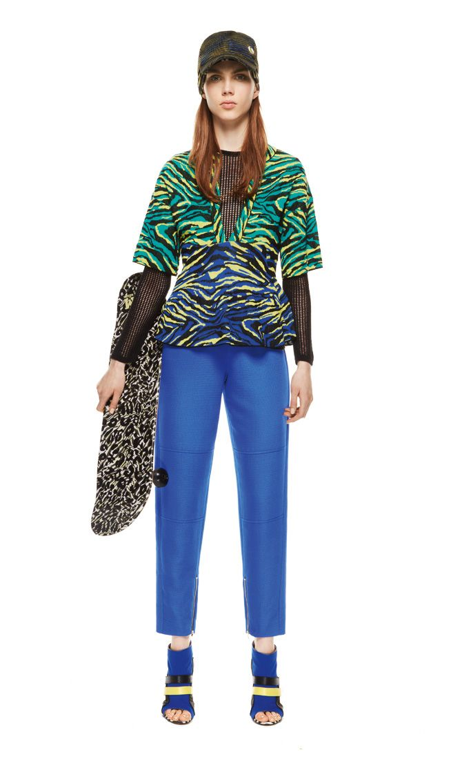 #MMissoni | Zebra Striped Sweater & Blue Chino Pants  | Spring 2014 Collection