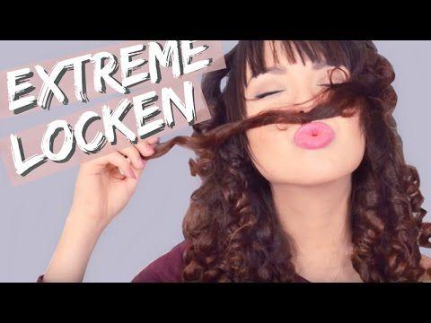 Extreme LOCKEN OHNE HITZE - Tutorial | ViktoriaSarina - YouTube