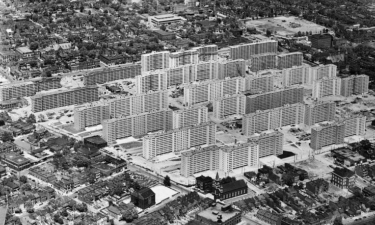 From its fanfare opening in 1954 to its live-TV demolition three decades later, the St Louis public housing project remains a powerful symbol of the social, racial and architectural tensions that dogged America's cities in the mid-20th century
