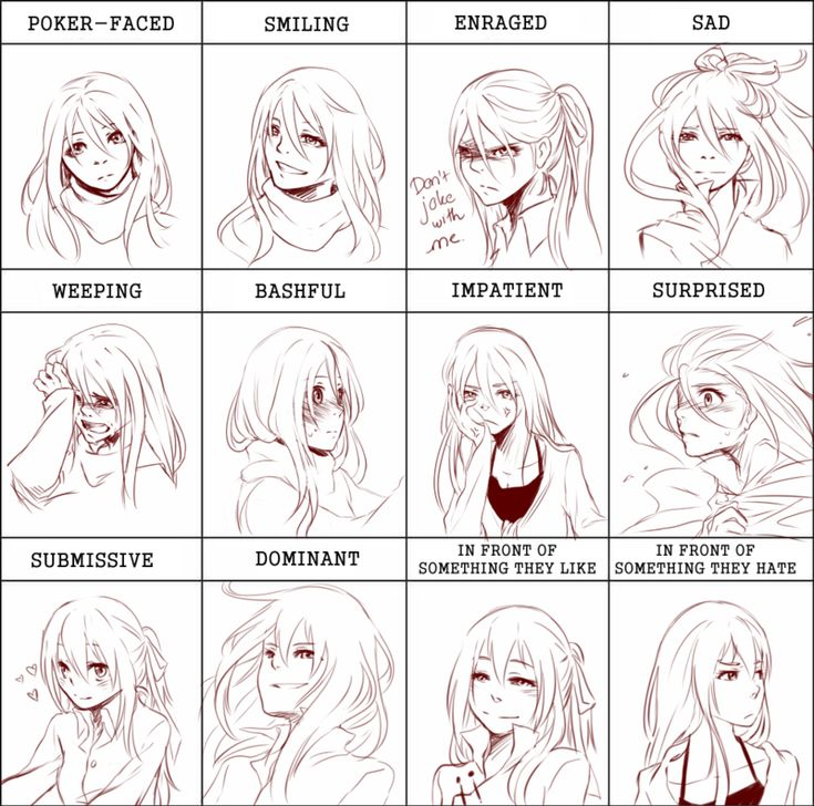 Pixiv expression meme with Anna by Houdidoo Expresiones