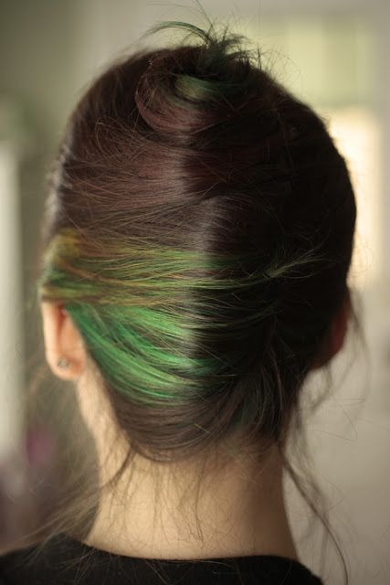 Green highlights - too daring? or a wedding statement to remember