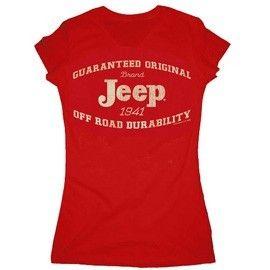 Guaranteed Original Jeep Red Women's Tee (Junior Size)