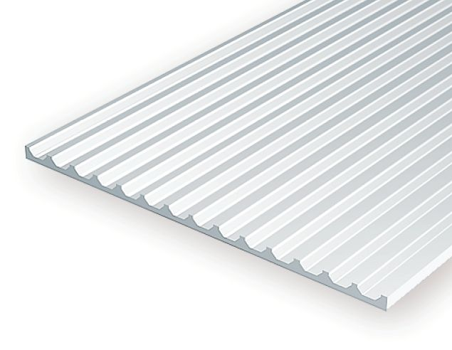 """4543 - .100"""" OPAQUE WHITE POLYSTYRENE BOARD AND BATTEN SIDING"""