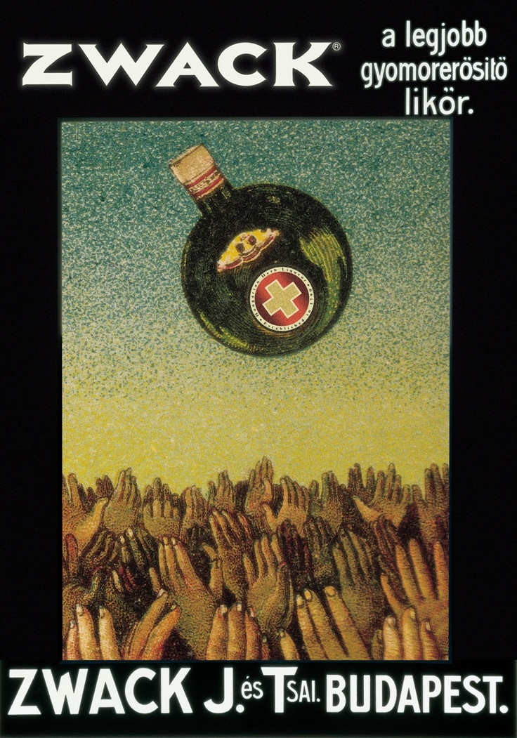 Unicum - In the USA, it's known only by the brewing family, Zwack. Collected by: http://www.pinterest.com/bookpublicist/ #Magyar #Hungarian #plakat #poszter #alcohol #marketing #vintage