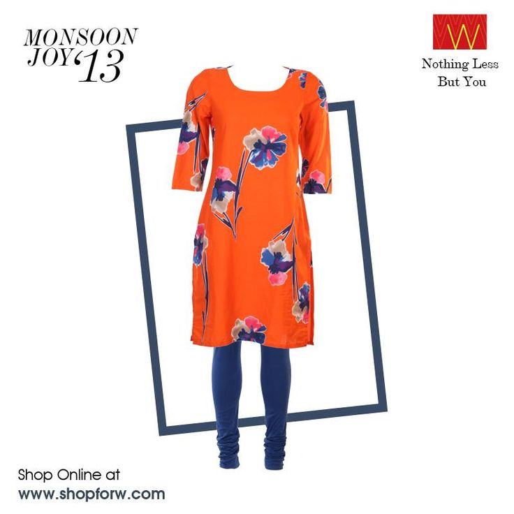 Take a quick break from work and head out with your colleagues for a weekday brunch in this lively ensemble! Say yes, ladies! www.shopforw.com #shopping #clothing #colours #pop #bright #bold #ensemble #weekday #kurta