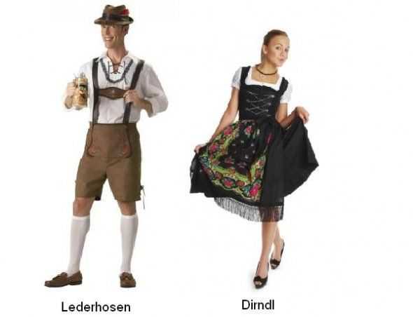 Traditional German Clothing. My Dirndl Was A White Blouse Blue Pinafore And Pink Apron ...