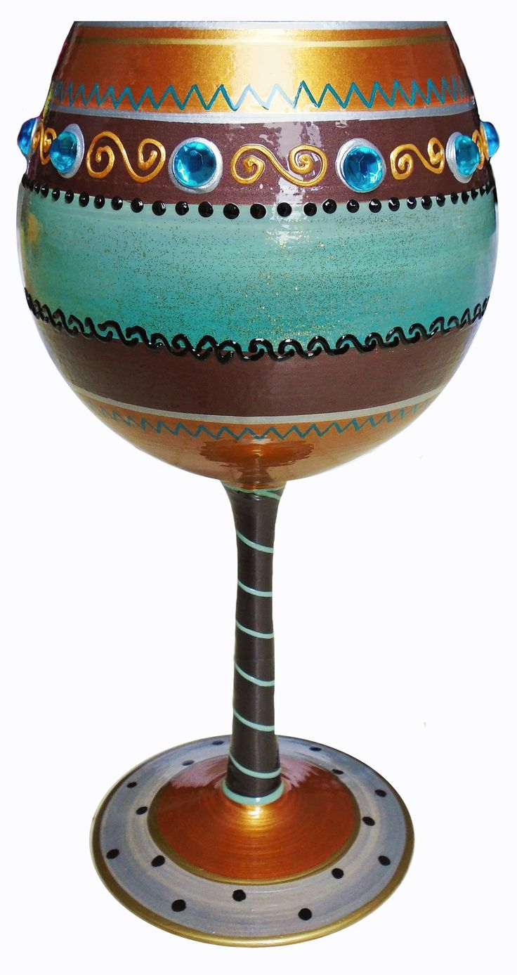 Southwestern-Balloon Wine Glass