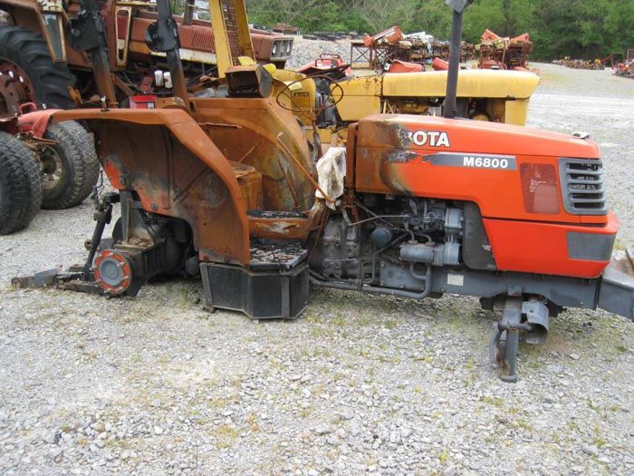 This tractor has been dismantled for Kubota M6800 tractor parts.  #kubota #tractor #parts