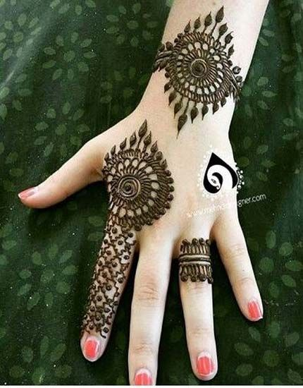 Mehandi Designs Ideas For Young Girls