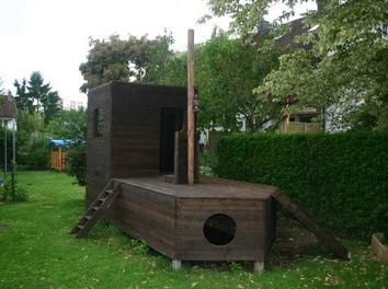 Piratenboot für den Garten mit Anleitung