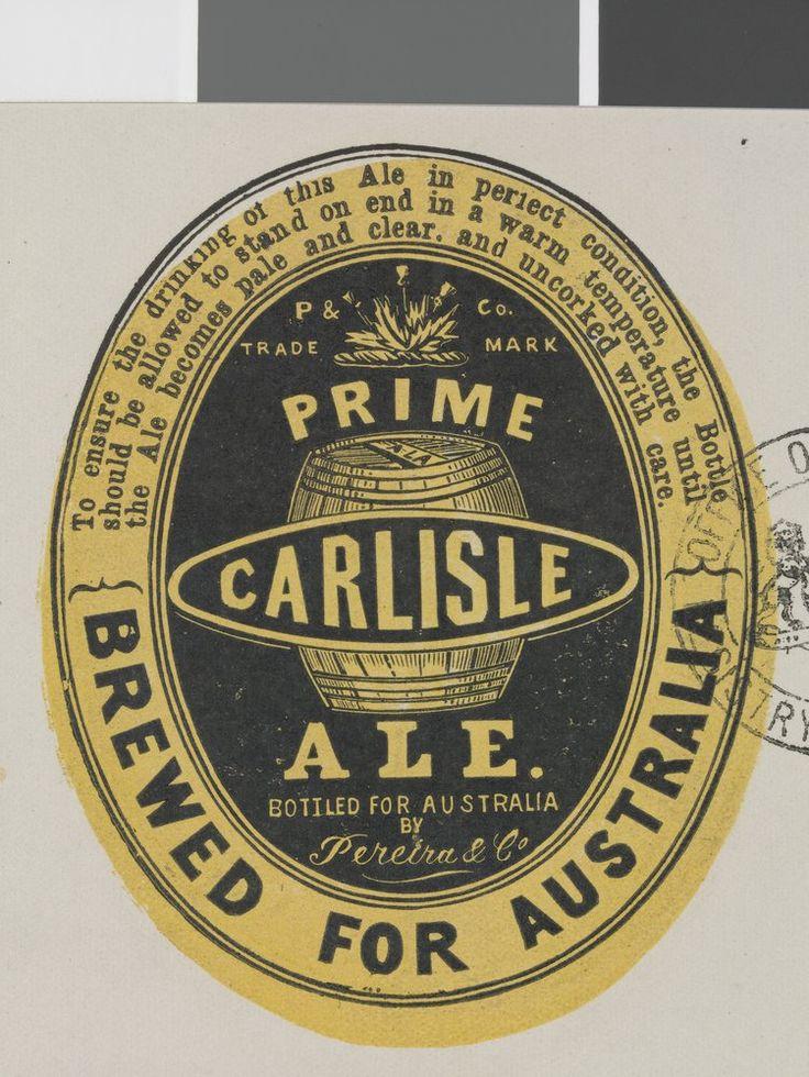 Old Australian beer label