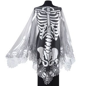 Skeleton Poncho - Instant Halloween costume though I would probably wear this all year around!