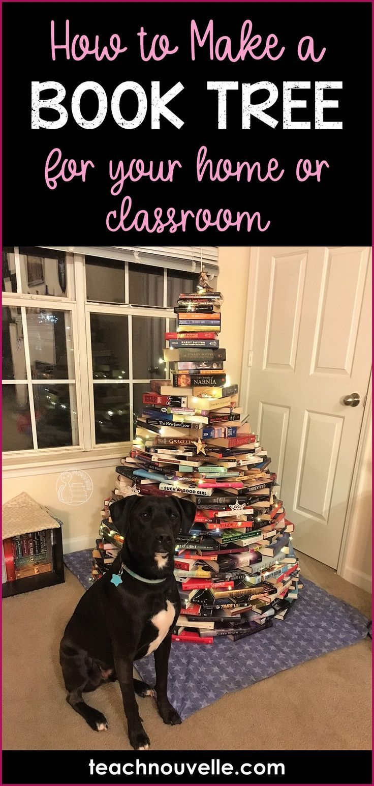 A book tree is a great holiday decoration for nerds and English teachers, am I right? This can be great for your home, office, or classroom! Here's how to make a book tree AND our book tree reveal for 2017. :) Blog post at teachnouvelle.com.