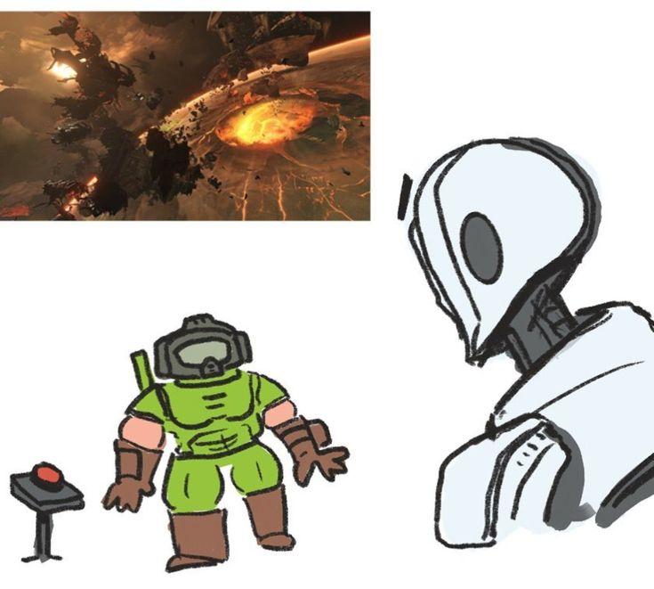 Doom eternal fan art in 2020 anime memes funny funny