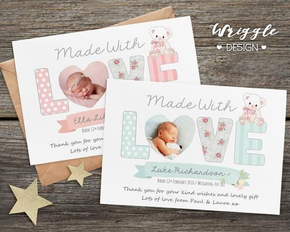 Birthday Thank You Card Personalised Thank You Cards With Etsy Birthday Card With Photo Happy Birthday Cards Printable Christening Thank You Cards