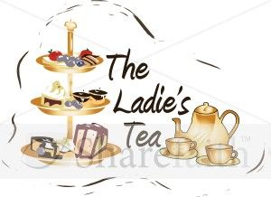 flyer samples of christian women ministry fundraisers | Ladies Tea Clipart | Women's Ministry Word Art