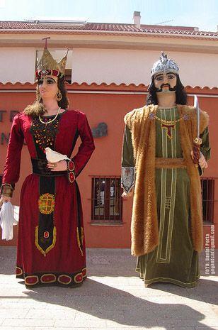 Gegants de la Plaça Sant Joan de Tarragona - Magí i Tecla.