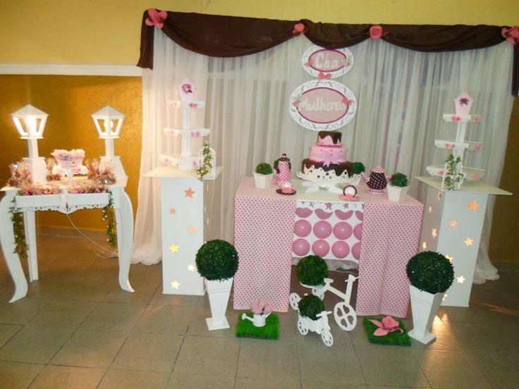 decoração rosa/marron
