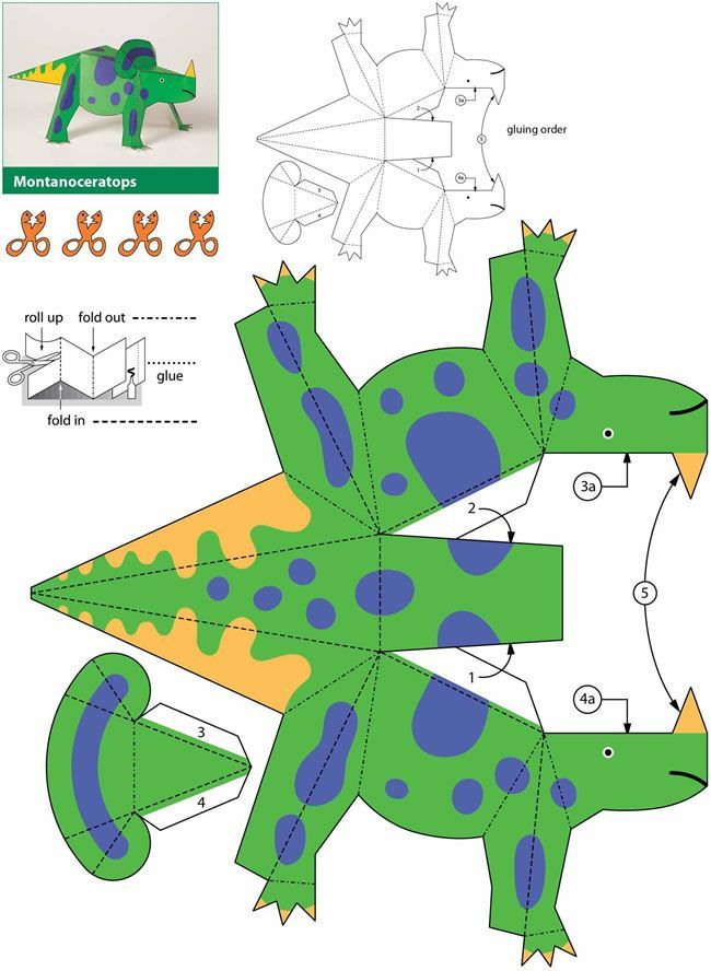 Dinosaurs: Kiragami for Kids: Easy-to-Make Paper Toys 4