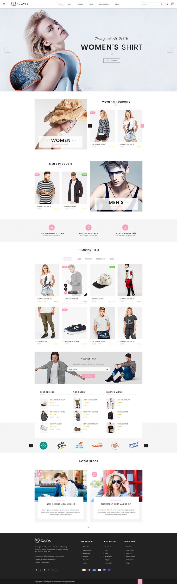 Suunhi - eCommerce PSD Template • Download ➝…