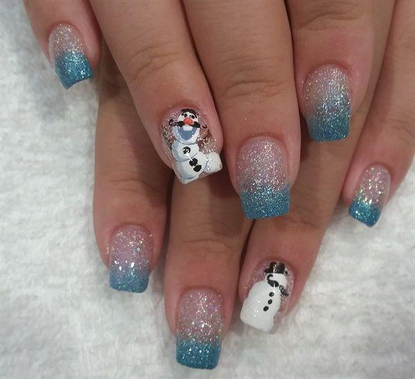 best 25 snowman nails ideas on pinterest snowman nail