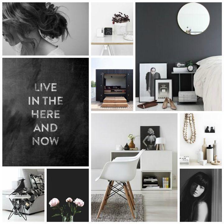mood board black&white