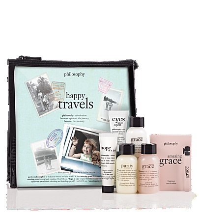 happy travels  travel-size skin care and fragrance set