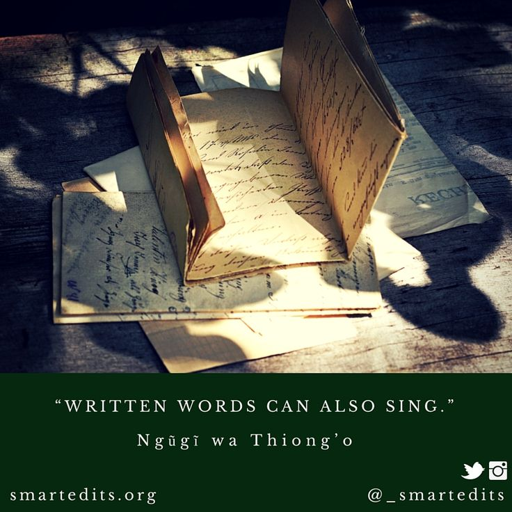 """""""Written words can also sing."""" - Ngũgĩ wa Thiong'o   #QOTD #LiteraryQuotes #365Quotes #DailyQuotes #Literature #Reading #Books #WordsofWisdom #WiseWords #BookLove #Book #Novel #Authors #Writer #Inspiration #DailyInspiration #BookNerd #Bookworm #Writing #BookQuotes"""