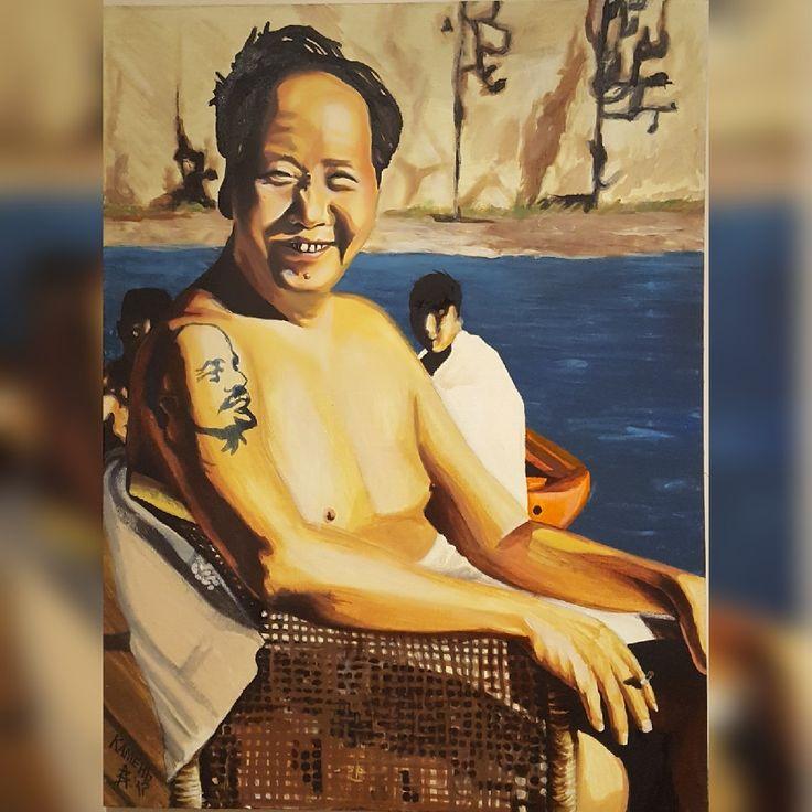 Мао Дзедун на искусственном водоеме 1961 год