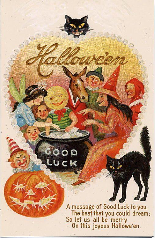 Vintage Halloween Cards at Bill Casselman's Canadian Word of the Day at www.billcasselman.com