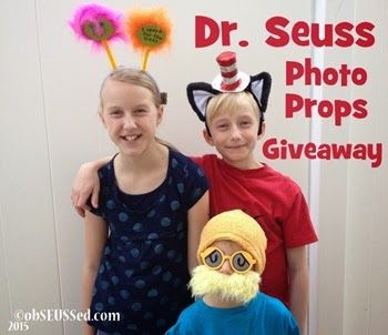 Dr. Seuss Costume Props Giveaway. Simple comment to enter at obSEUSSed.com. Feb/March 2015. + Dr. Seuss Party Photo Booth & DIY Prop ideas.