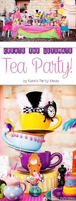 What little girl wouldn't love having a tea party, especially one that the Mad Hatter himself would approve of! Whether it's a birthday, special milestone, occasion, or just a regular day, your little girl is worth celebrating any day! With a little planning you can create an afternoon that your daughter and her friends will remember for a lifetime! Follow along as eBay shares the guide to create the ultimate tea party!