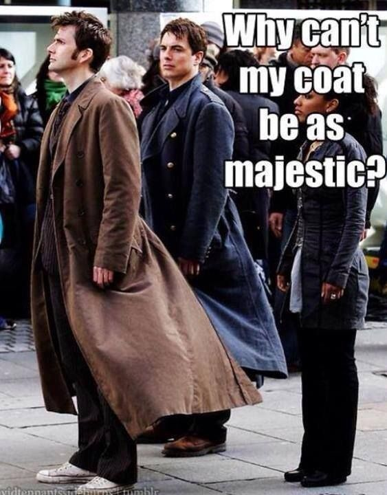 Capt. Jack's coat envy. Don't worry, Cap, we all have it.