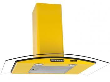 Coifa de Parede Nardelli 80cm com Vidro Curvo - 3 Velocidades Slim YELLOW