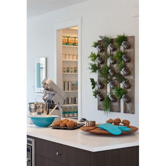 DIY herb garden with mason jars for your kitchen. Don't forget to named each herb! #diy #diydecoration #herb #herbgarden #sayuran #plant #indoorplant #indoorgarden #indoorpot #kitchen #kitchendesign #desaindapur #dapur