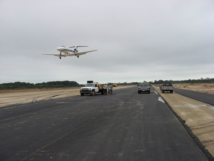 RodLa Construction LTD. Early Completion Of The Runway Extension At The PGIA Allowed Us To Test The Runway Out With Some Private Flights.