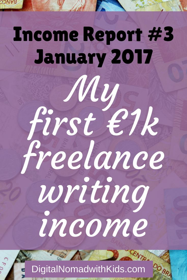 Digital nomad income as a newbie part-time freelance writer | Income Report | Work remote