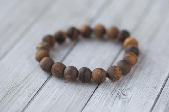 Gift bracelet for him  / Men's Tigers Eye bracelet /