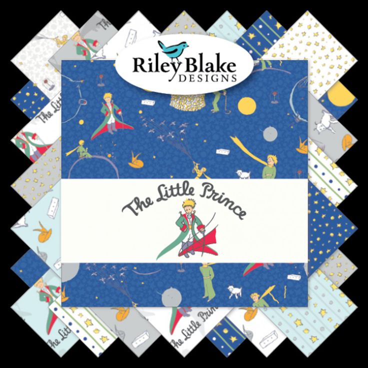 "The Little Prince Charm Pack - 5"" Inch Precut Fabric Squares - Riley Blake 5-6790-42 - Juvenile Novelty Fabric - Baby Boy Quilt Fabric by Jambearies on Etsy"