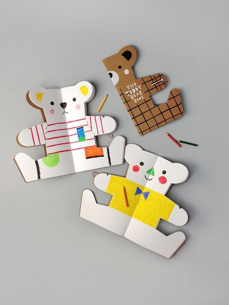 The Teddy Bear Book | 30 blank pages, 15 teddy bears to create and dress up! | rockandpebble.com