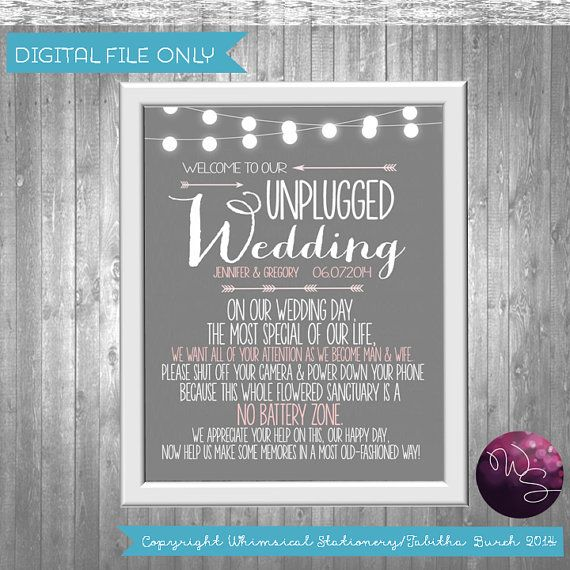 Relatively Unplugged Wedding Printable @VE45 – Advancedmassagebysara