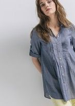 Chambray cotton shirt Medium denim