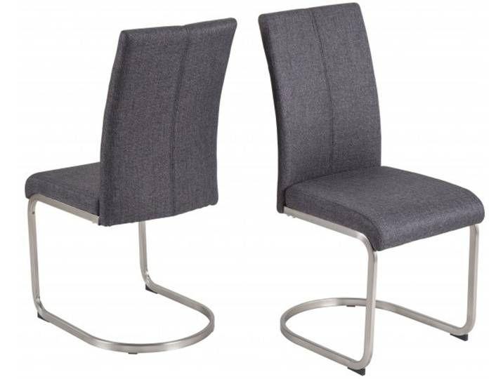 2er Set Schwingstuhl Larina Anthrazit Edelstahloptik Webstoff 44x59 5x Floor Chair Furniture Chair